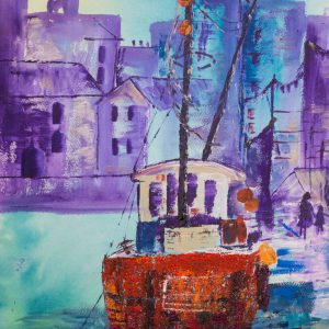 Boat in the Harbour by Andrea Palmer