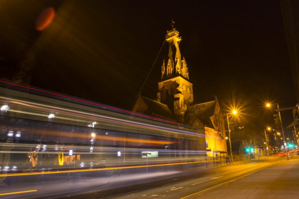Nottingham Cathedral by Night by Andrea Palmer
